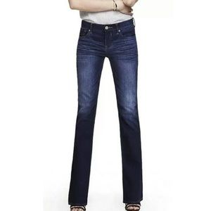 EXPRESS Low-Rise Stella Boot-Cut Jeans Size 6 LONG